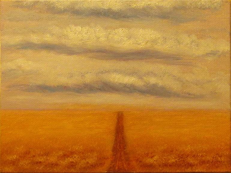 """Landscape Mini23"" original fine art by Mary Sylvia Hines"