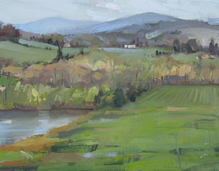"""View From the Alpaca Farm"" original fine art by Sarah Sedwick"