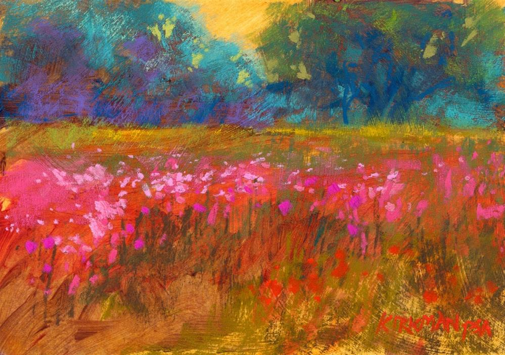"""Wildflower Field #34"" original fine art by Rita Kirkman"