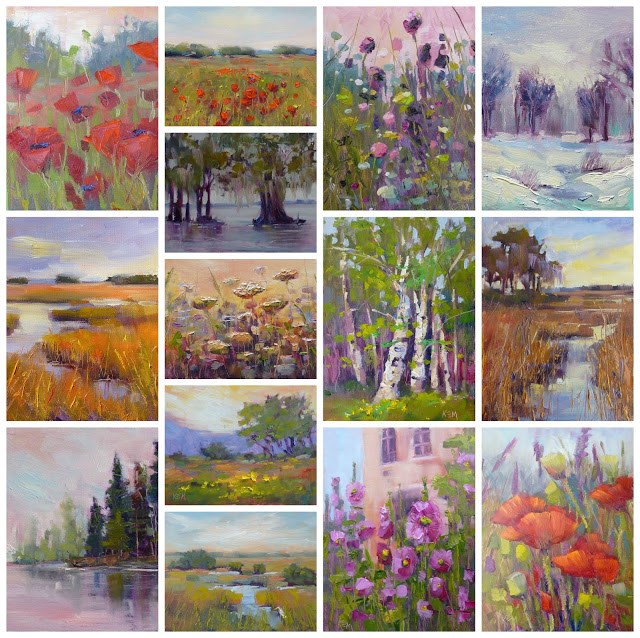 """""""How To Get it All Done....Reflections on the 30 Paintings in 30 Days Challenge"""" original fine art by Karen Margulis"""