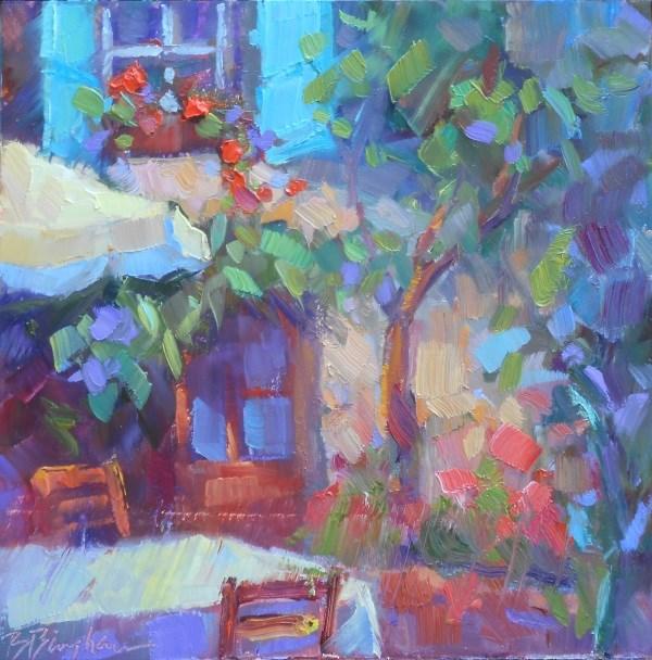 """Red Geraniums"" original fine art by Bruce Bingham"