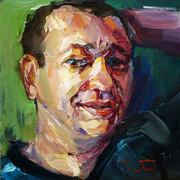 """my friend Ilfat"" original fine art by Jurij Frey"