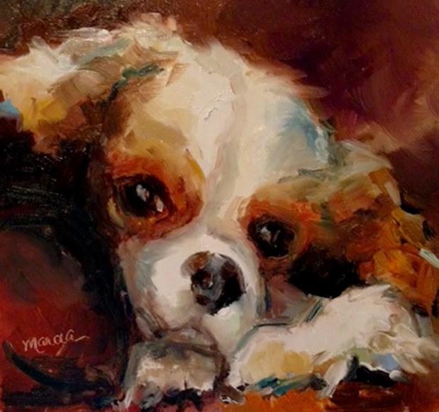 """Topper - NFS"" original fine art by Marcia Hodges"
