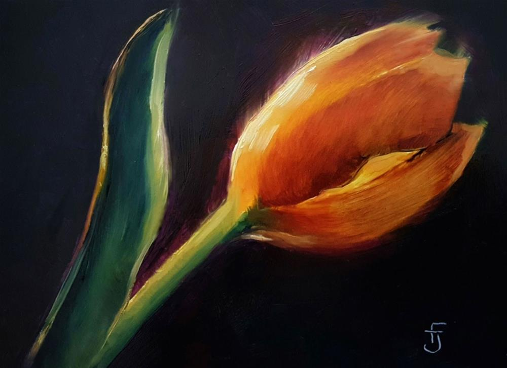 """Tulip Highlights"" original fine art by Francine Dufour~Jones"