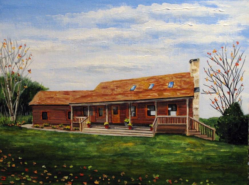 """Wooden Ranch"" original fine art by Nan Johnson"
