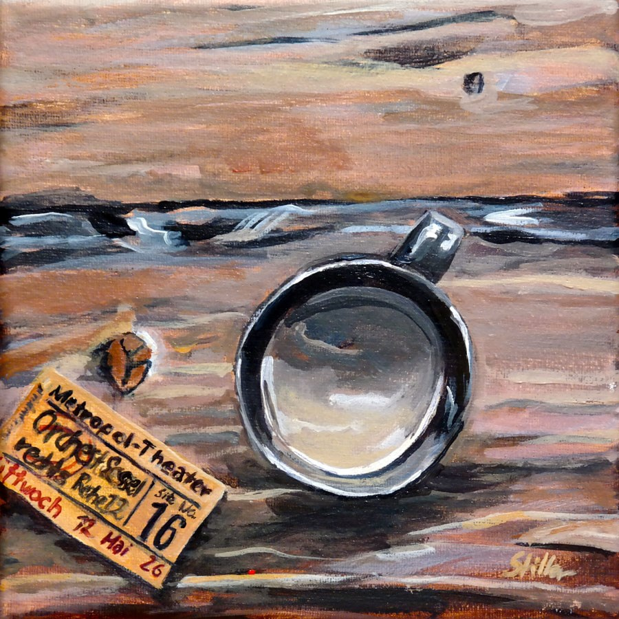 """1572 Coffee Ticket"" original fine art by Dietmar Stiller"