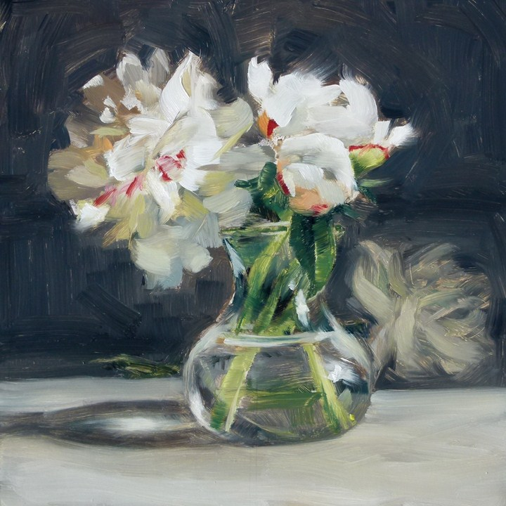 """""""Peonies in a Vase"""" original fine art by Deb Anderson"""