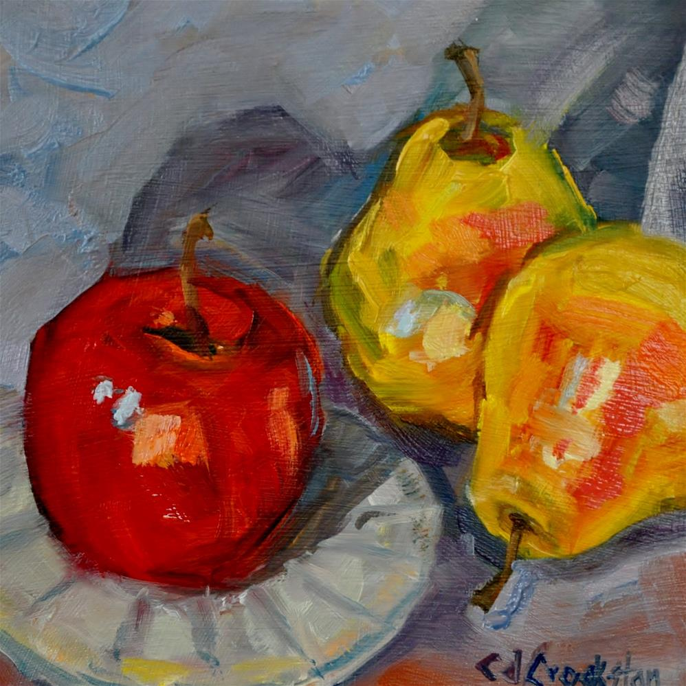 """Pearapple"" original fine art by Catherine Crookston"