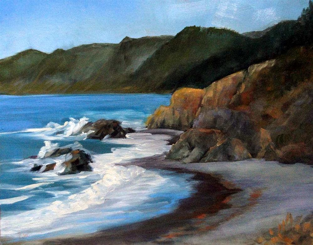 """Overlooking Little Black Sands Beach"" original fine art by Cietha Wilson"