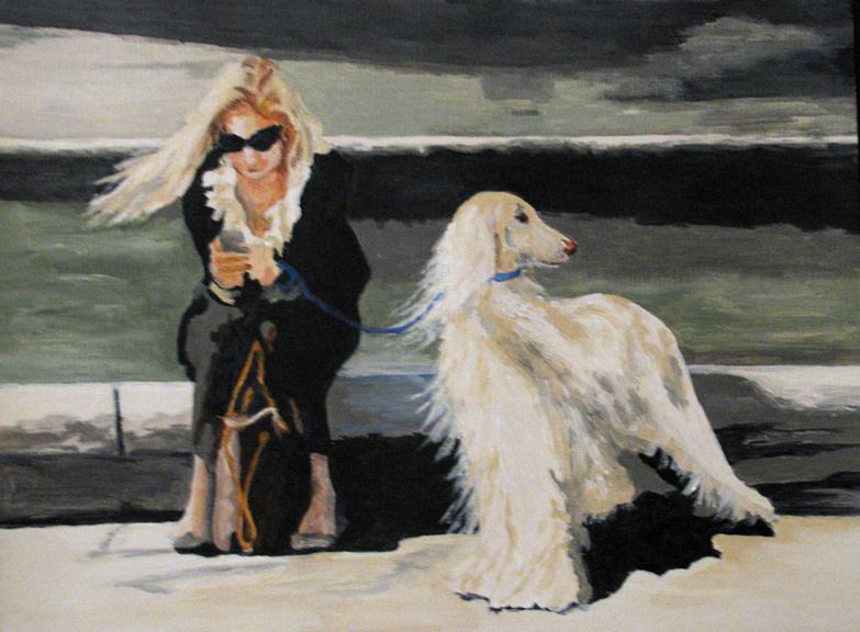 """Couple of Blondes"" original fine art by Nan Johnson"