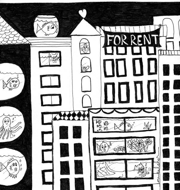 """Renters"" original fine art by Lou Belcher"
