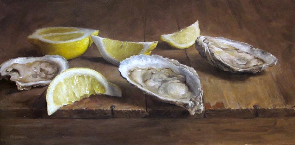 """Oyster Trio"" original fine art by Michael Naples"