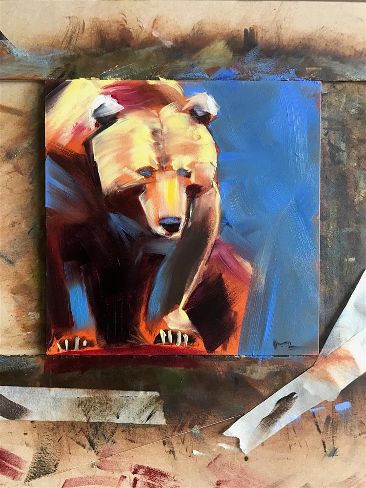 """Following Bear "" original fine art by Heiwa"