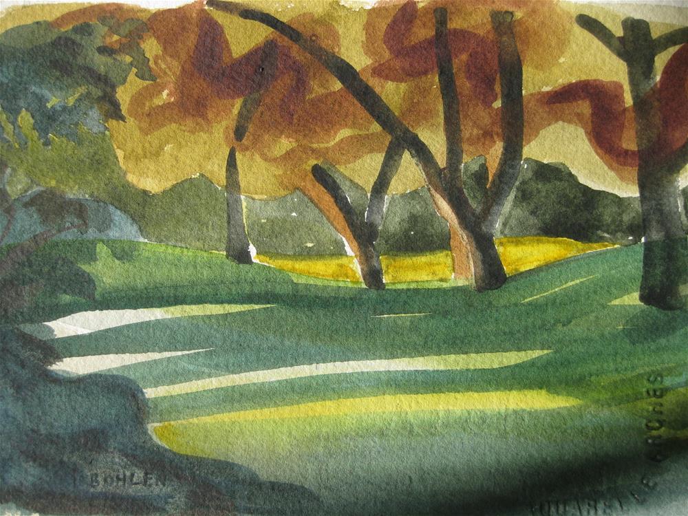 """""""River Walk"""" original fine art by Priscilla Bohlen"""