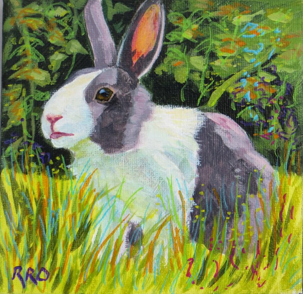 """Looking for Carrots"" original fine art by Rhett Regina Owings"