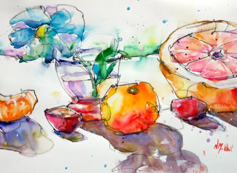"""""""the other half of it"""" original fine art by Nora MacPhail"""