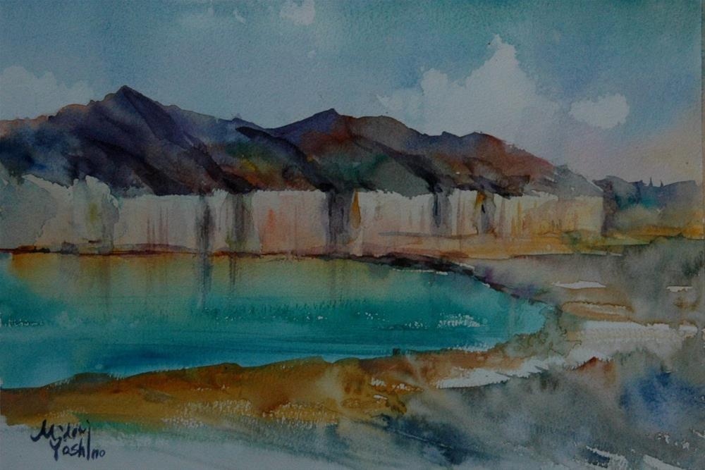 """""""From Al Ain"""" original fine art by Midori Yoshino"""