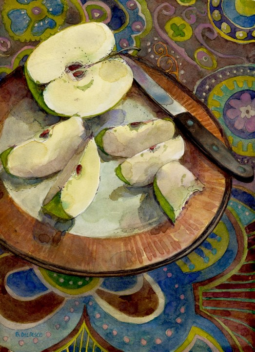 """Pen & Ink: Afternoon Snack (& a video of the process)"" original fine art by Belinda Del Pesco"