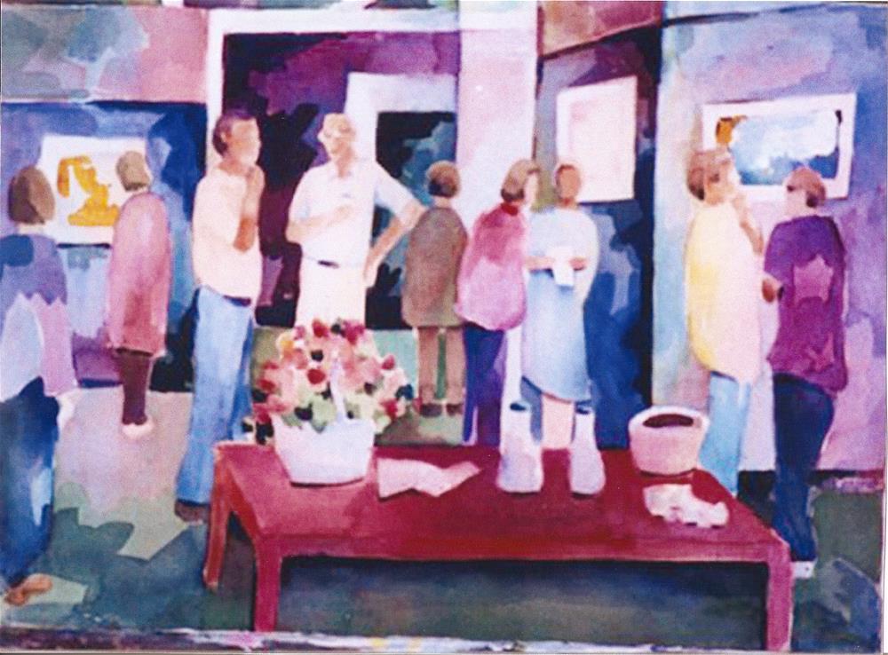 """the opening"" original fine art by meribeth coyne"