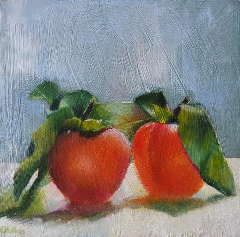 """Persimmons"" original fine art by Cathy Holtom"