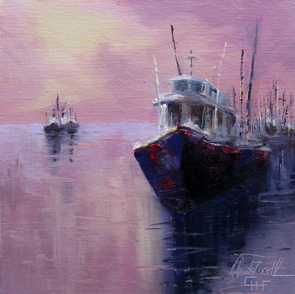 """""""Coming Home"""" original fine art by Christa Friedl"""