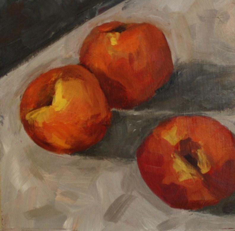 """Peaches"" original fine art by Shannon Bauer"