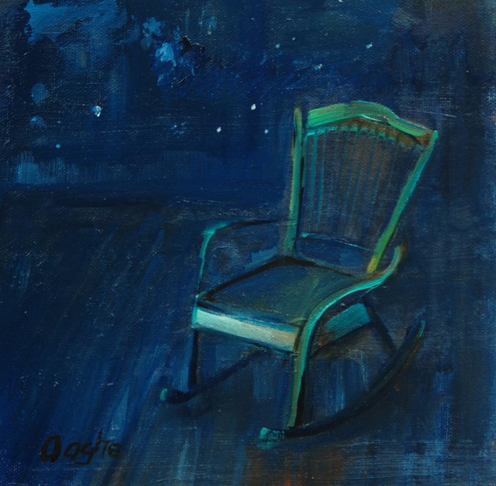 """Green Rocking Chair"" original fine art by Angela Ooghe"