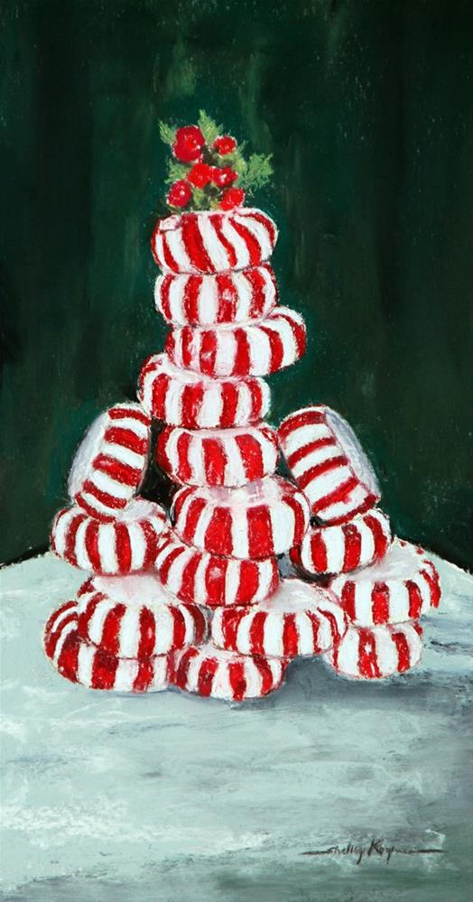 """Christmas Tree with Red Dye #3 Appearing in Blick Catalog"" original fine art by Shelley Koopmann"