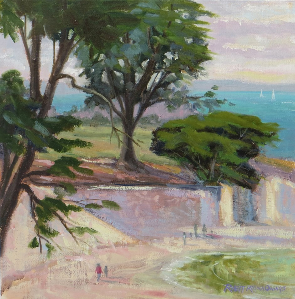 """Lovers Point Beach"" original fine art by Rhett Regina Owings"