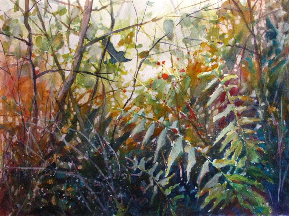 """Woodland Ferns II"" original fine art by Melissa Gannon"