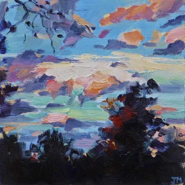 """Yorktown Sunset"" original fine art by Jessica Miller"
