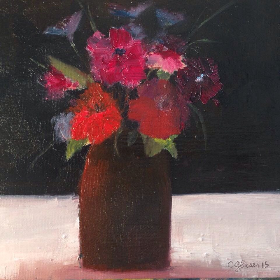 """Fleurs de jardin"" original fine art by christina glaser"