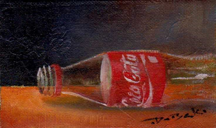"""empty Coca-Cola"" original fine art by Mark DeBak"