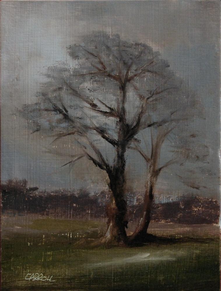 """""""Two Trees"""" original fine art by Neil Carroll"""