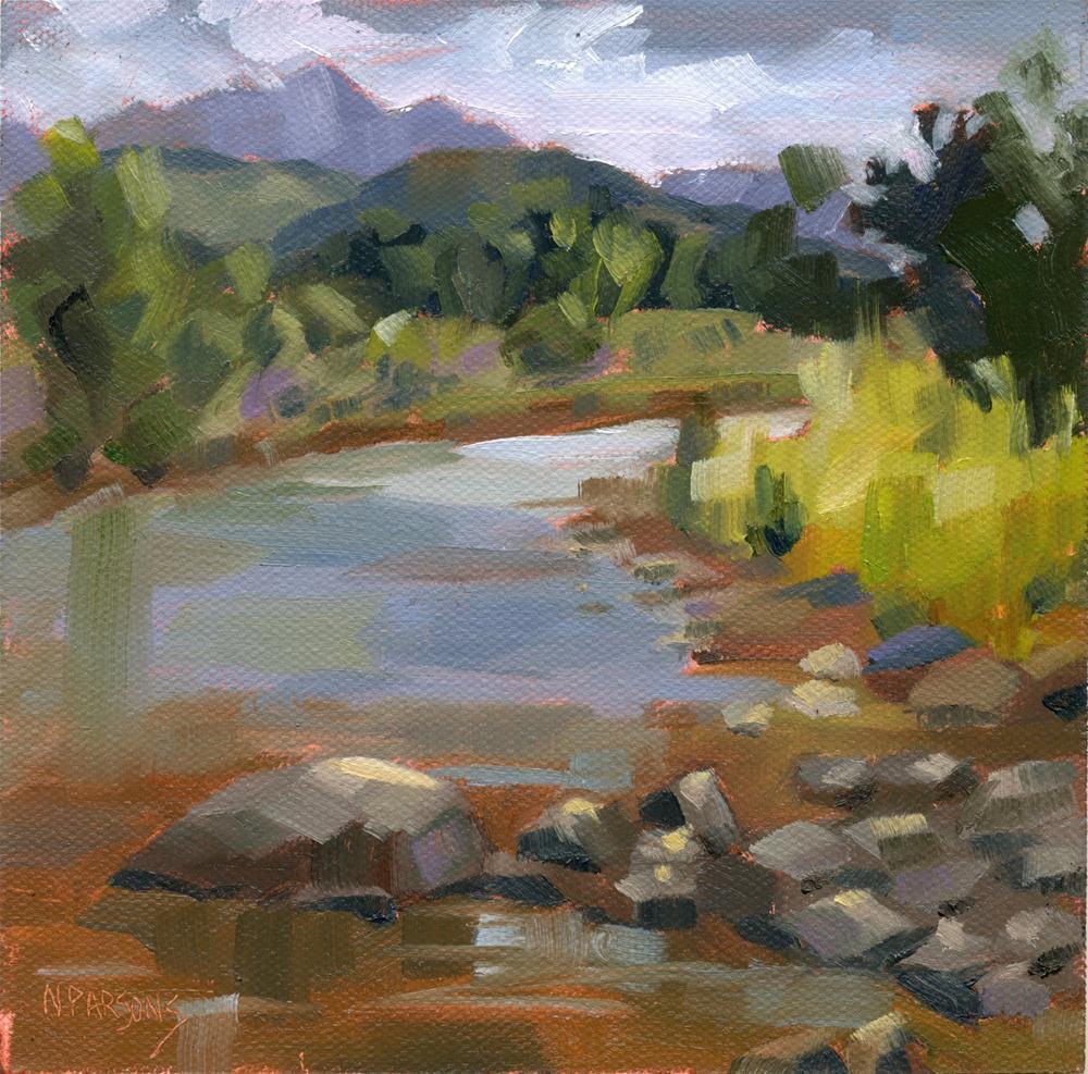 """San Juan River"" original fine art by Nancy Parsons"
