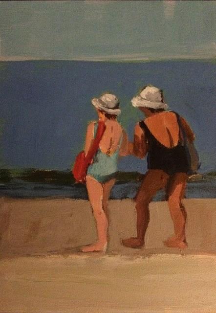 """A Good Day Ahead,, 7x5 inch acrylic painting by Kelley MacDonald"" original fine art by Kelley MacDonald"