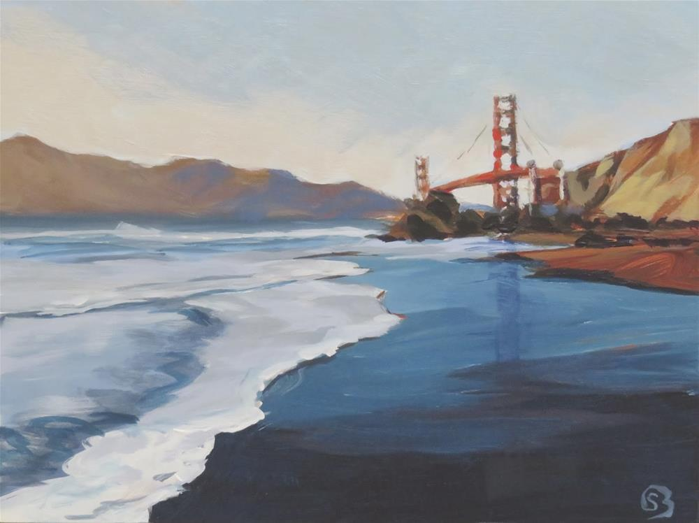 """Golden Gate Bridge From Afar"" original fine art by Shari Buelt"