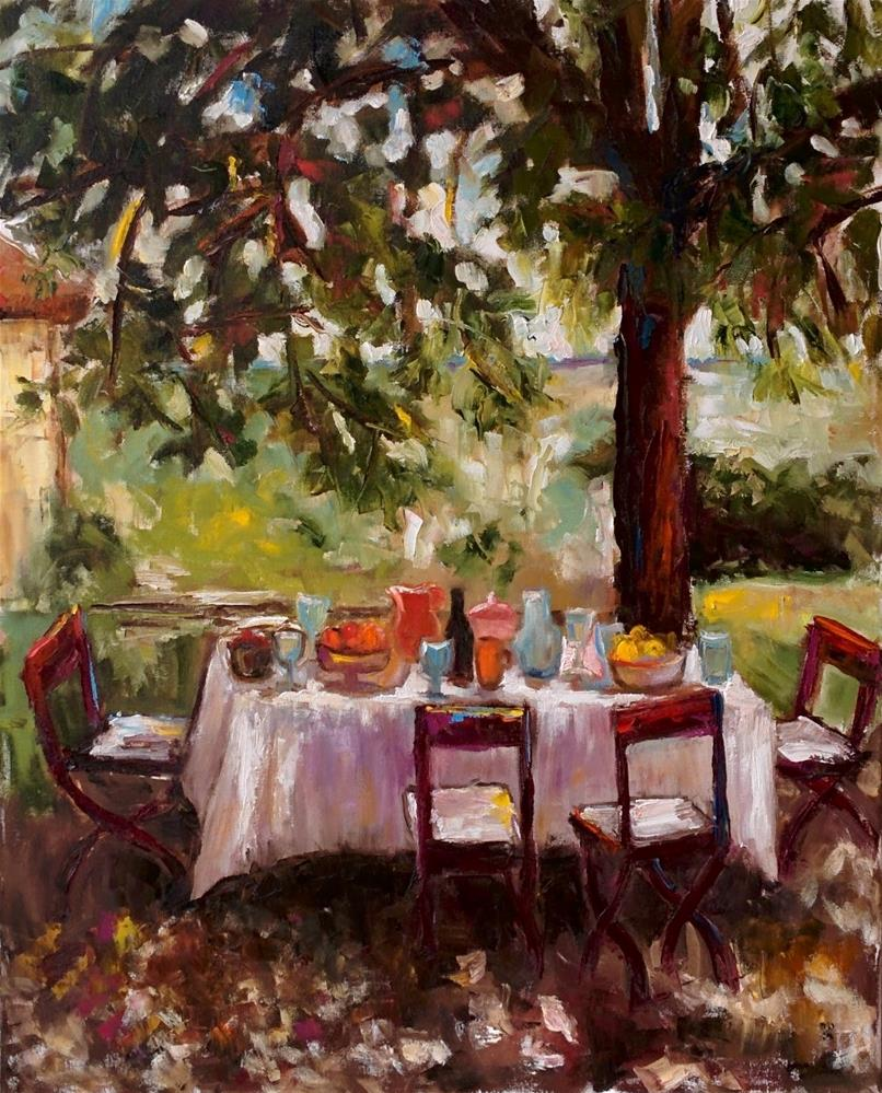 """Alfresco"" original fine art by pepa sand"