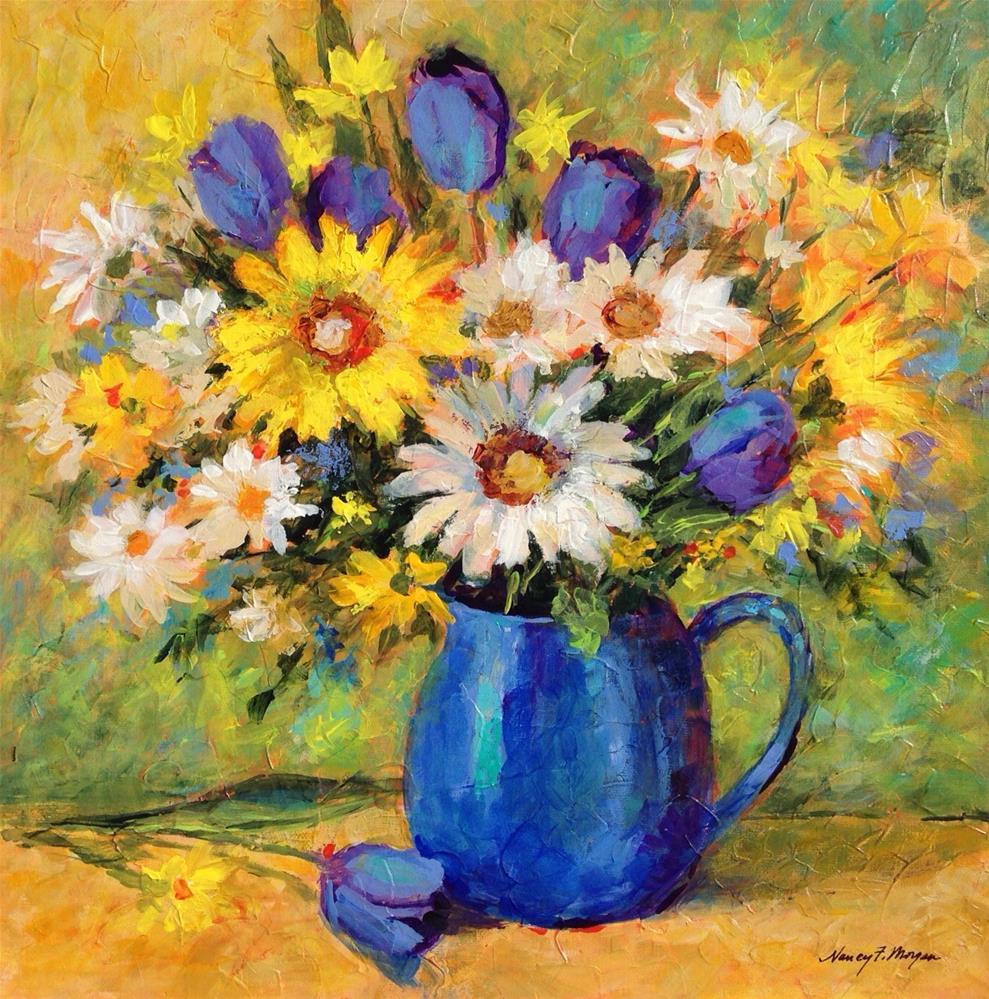 """Blue Delight"" original fine art by Nancy F. Morgan"