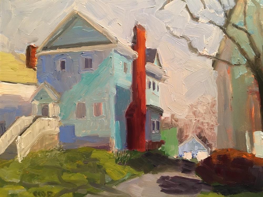 """Street Small Town"" original fine art by Christine Parker"