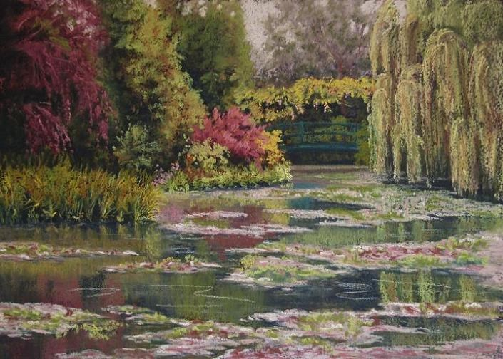 """Return to Giverny"" original fine art by Ruth Mann"