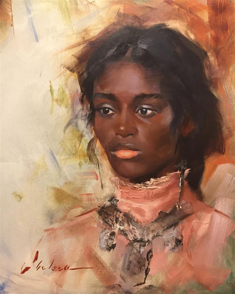 """""""Untitled Portrait"""" original fine art by Chelsea Lang"""