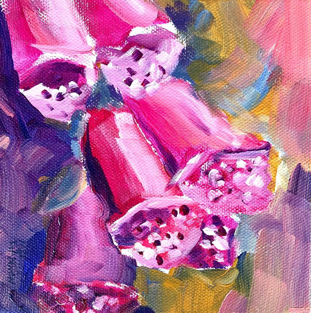 """""""Foxglove Smile"""" original fine art by Melissa Gannon"""