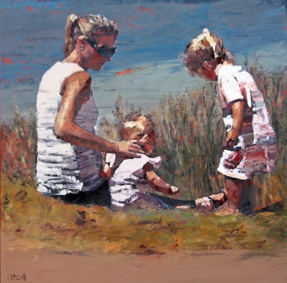 """Beachside II"" original fine art by Claire McCall"