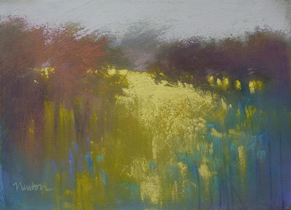 """Meadow Gold"" original fine art by Barbara Benedetti Newton"