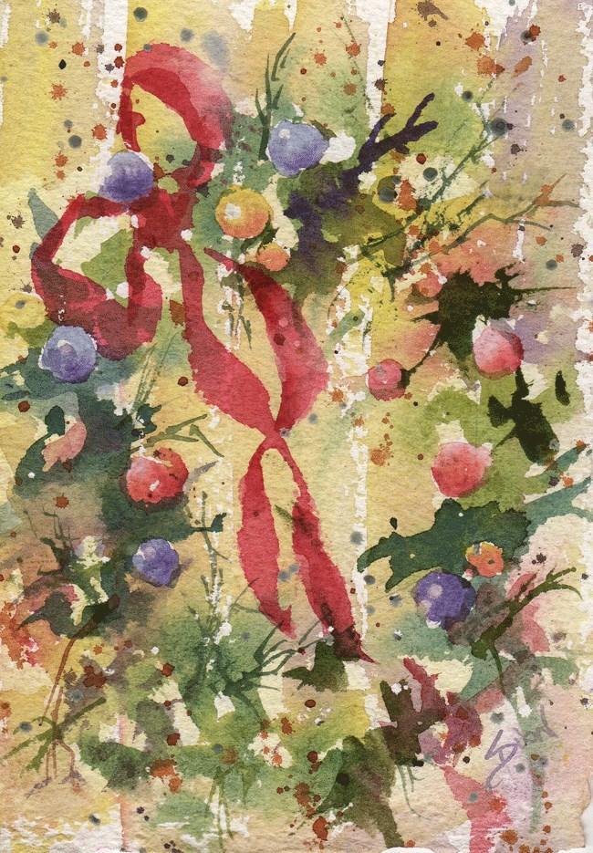 """""""Wreath1"""" original fine art by Sue Dion"""