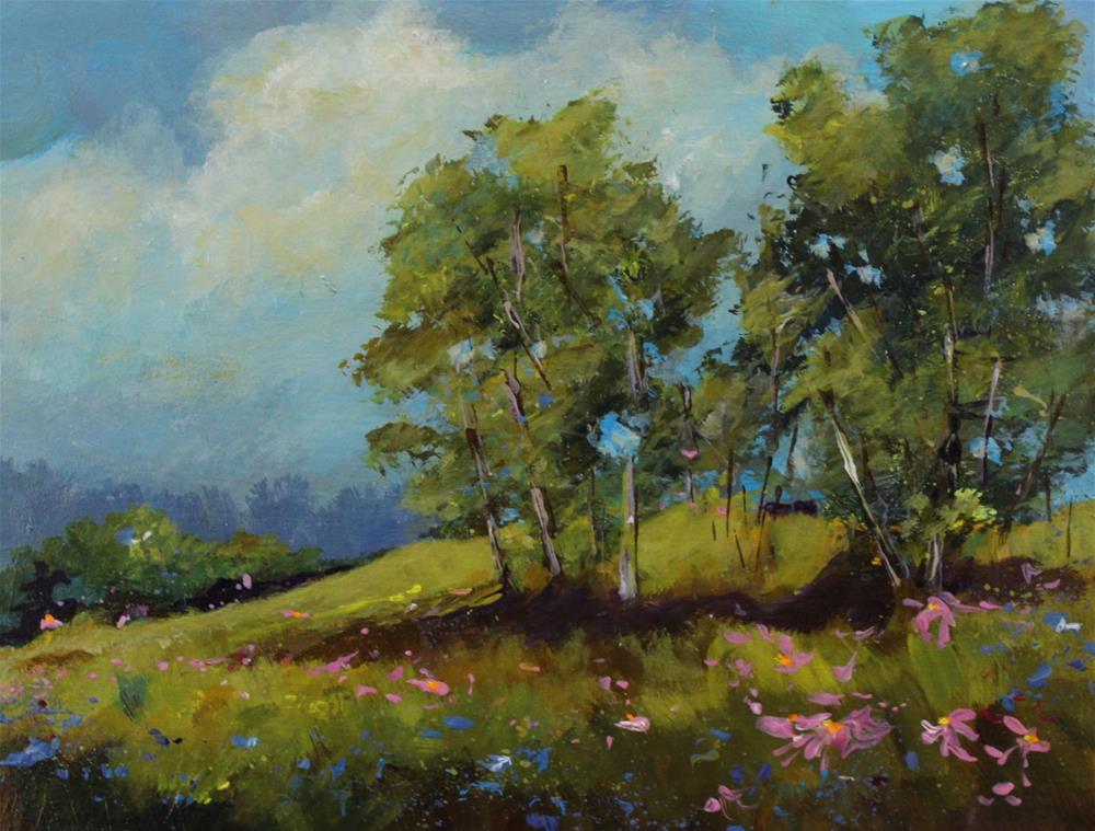 """Wildflower Landscape Floral Flower Coneflower Original Painting"" original fine art by Alice Harpel"