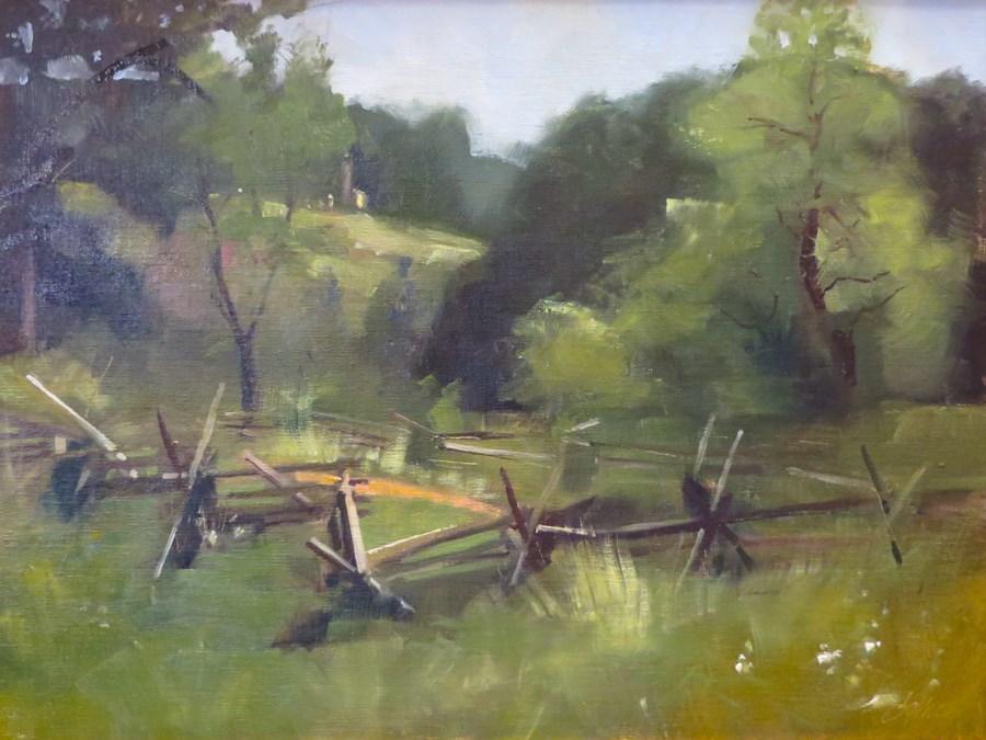 """Gettysburg Split Rails"" original fine art by Beth Bathe"