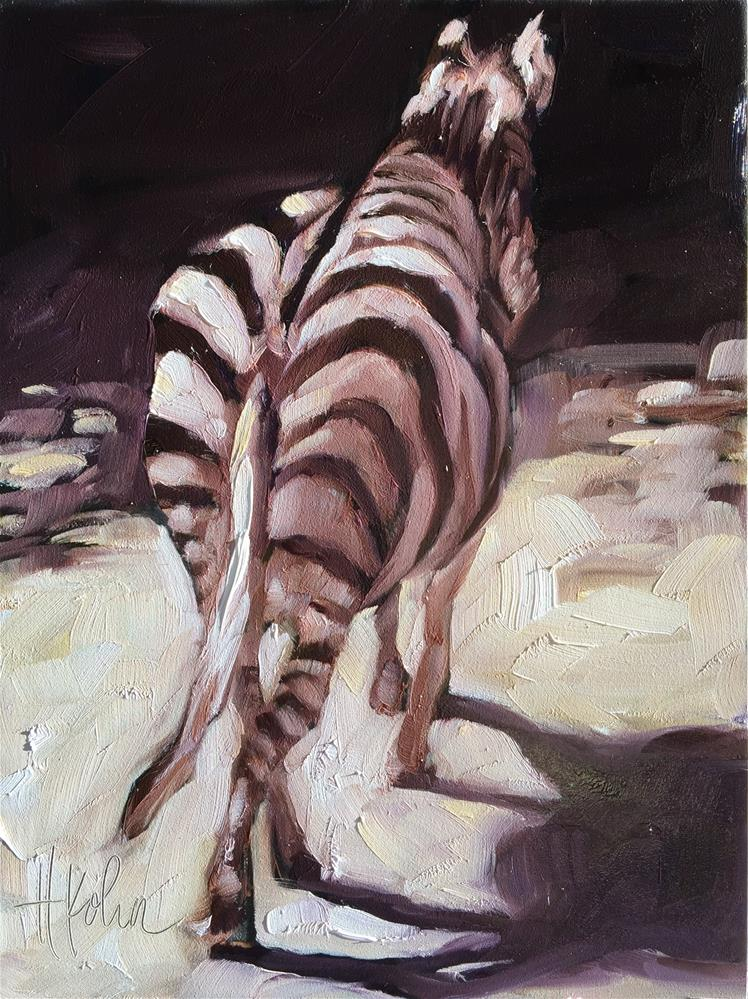"""Zebra Back"" original fine art by Hallie Kohn"