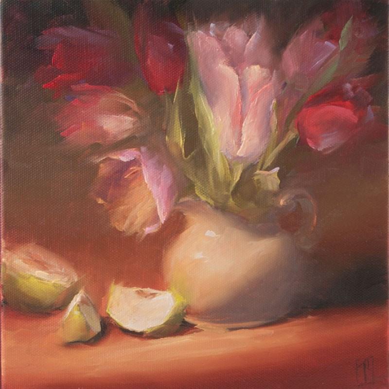 """Study of Pink Tulips"" original fine art by Lori Twiggs"